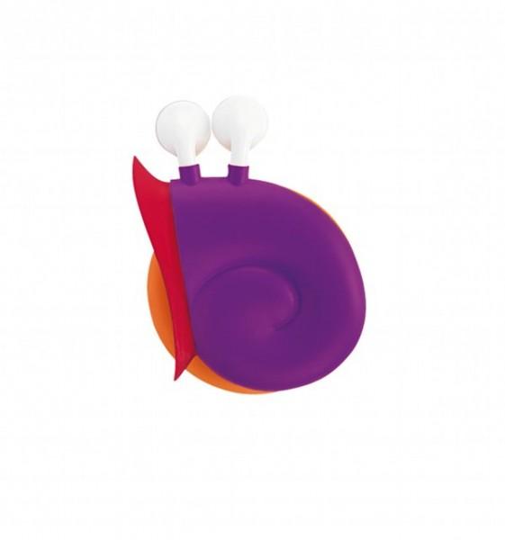 e-my - Ohrhörer mit Kabelaufwicklung Schnecke - Lady Snail lila