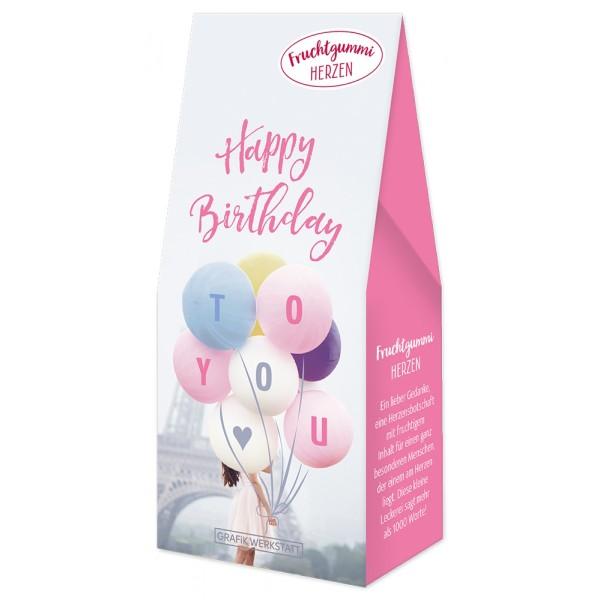 Fruchtgummi Herzen Luftballons Happy Birthday To You Pigmento
