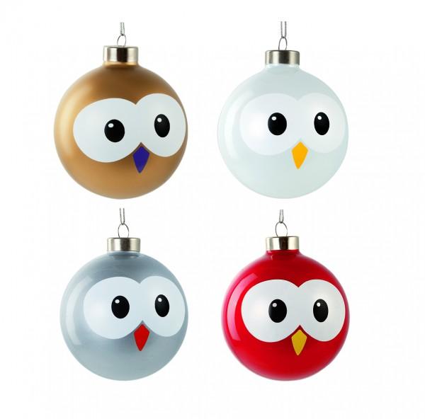 Lustige Weihnachtskugeln.E My Weihnachtskugeln Christbaumkugeln Eulen Pally