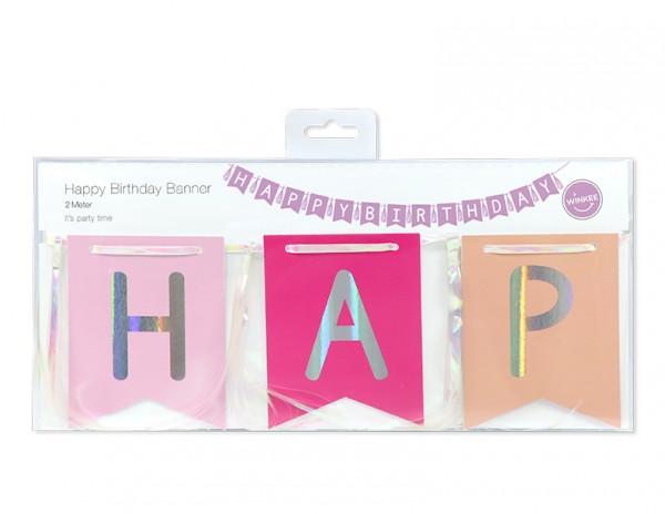 Girlande Geburtstags-Dekoration - Happy Birthday Banner 2 Meter