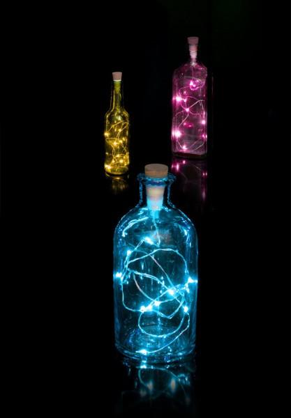 Suck.Uk - Flaschenlicht mit Lichterkette - Multicolour String Bottle Light - leuchtet in 7 Farben
