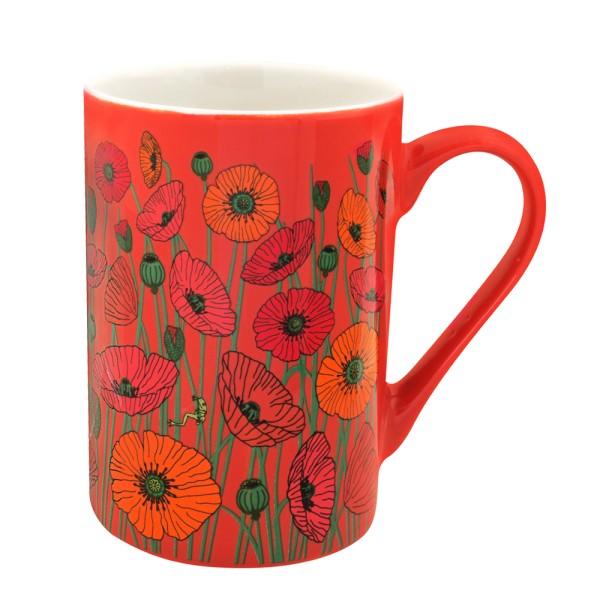Pylones - Tasse Becher Kaffeetasse - Schluck - Coquelicots