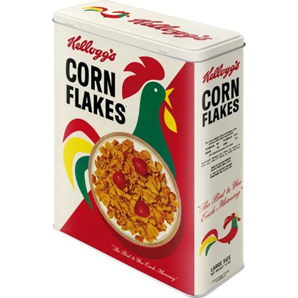 Nostalgie Blechdose Vorratsdose XL - Corn Flakes Cornelius