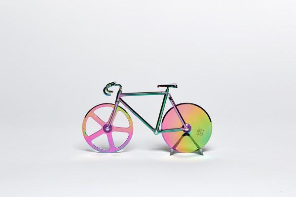 doiy - Pizzaschneider Fahrrad - Fixie Pizza Cutter - Irisierend Multicolour