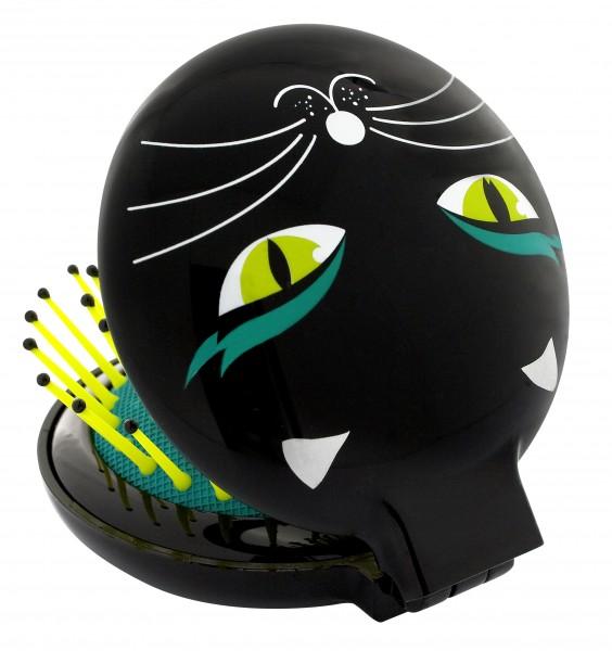 Pylones - Pocket Haarbürste mit Spiegel - Lady Retro - Black Cat