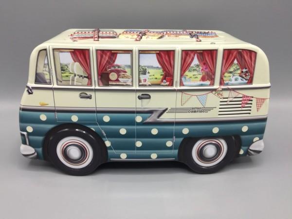 Blechdose - Travel Camper Van Auto Camping-Bus VW Bus - blau