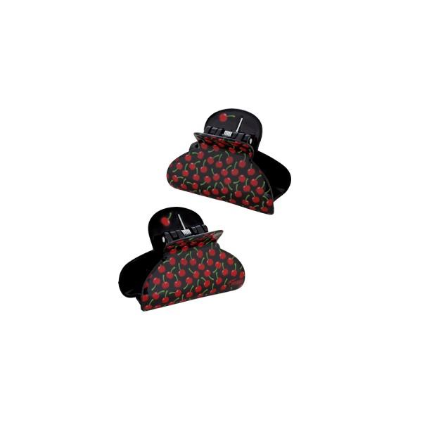 Pylones - Haarspange - Haarklammer - Ladyclip Small - Cherry Kirschen