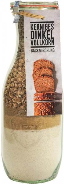 Brotbackmischung im Weck-Glas - Kerniges Dinkelvollkornbrot - 1062 ml