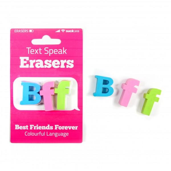S.Uk - Radiergummis Text Speak Eraser BFF - Best Friends Forever