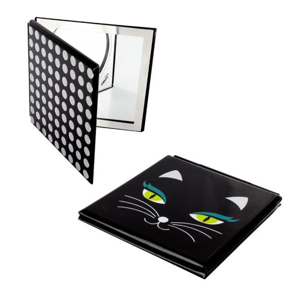 Pylones - Pocket Spiegel - Taschenspiegel - Mimi - Katze Black Cat