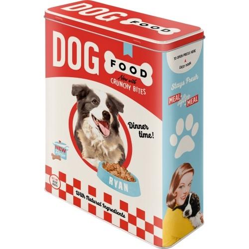 Nostalgie Blechdose Vorratsdose XL - Hundefutter Dog Food 4 Liter