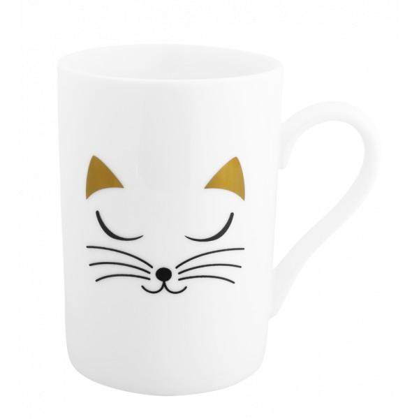 Pylones - Tasse Becher Kaffeetasse - Schluck - White Cat Katze