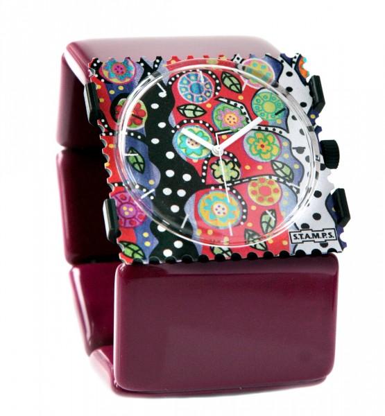 S.T.A.M.P.S. - Armband Belta Burgund - ohne Uhr - Stamps