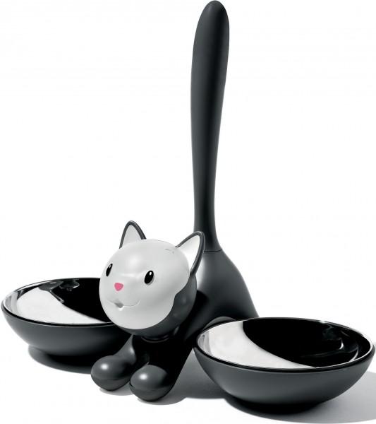 Alessi - Katzennapf - Tigrito - schwarz