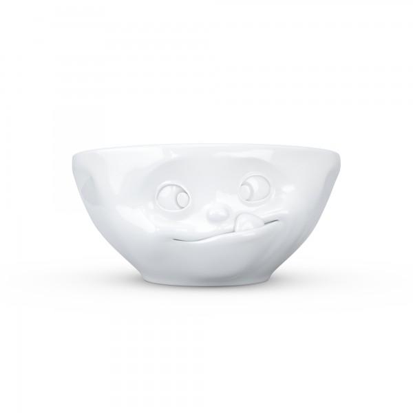 TV Tassen - Schale mit Gesicht 350 ml - lecker- aus Porzellan