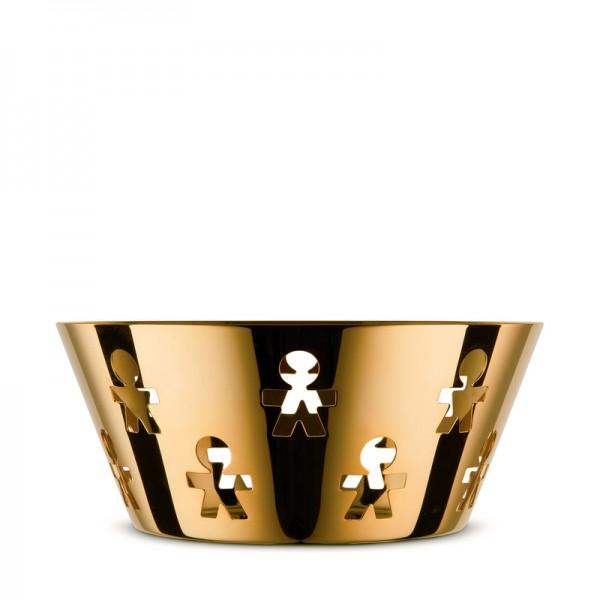 Alessi - Schale Korb Girotondo - 24 Karat Gold limitierte Auflage - mittel 20,5 cm