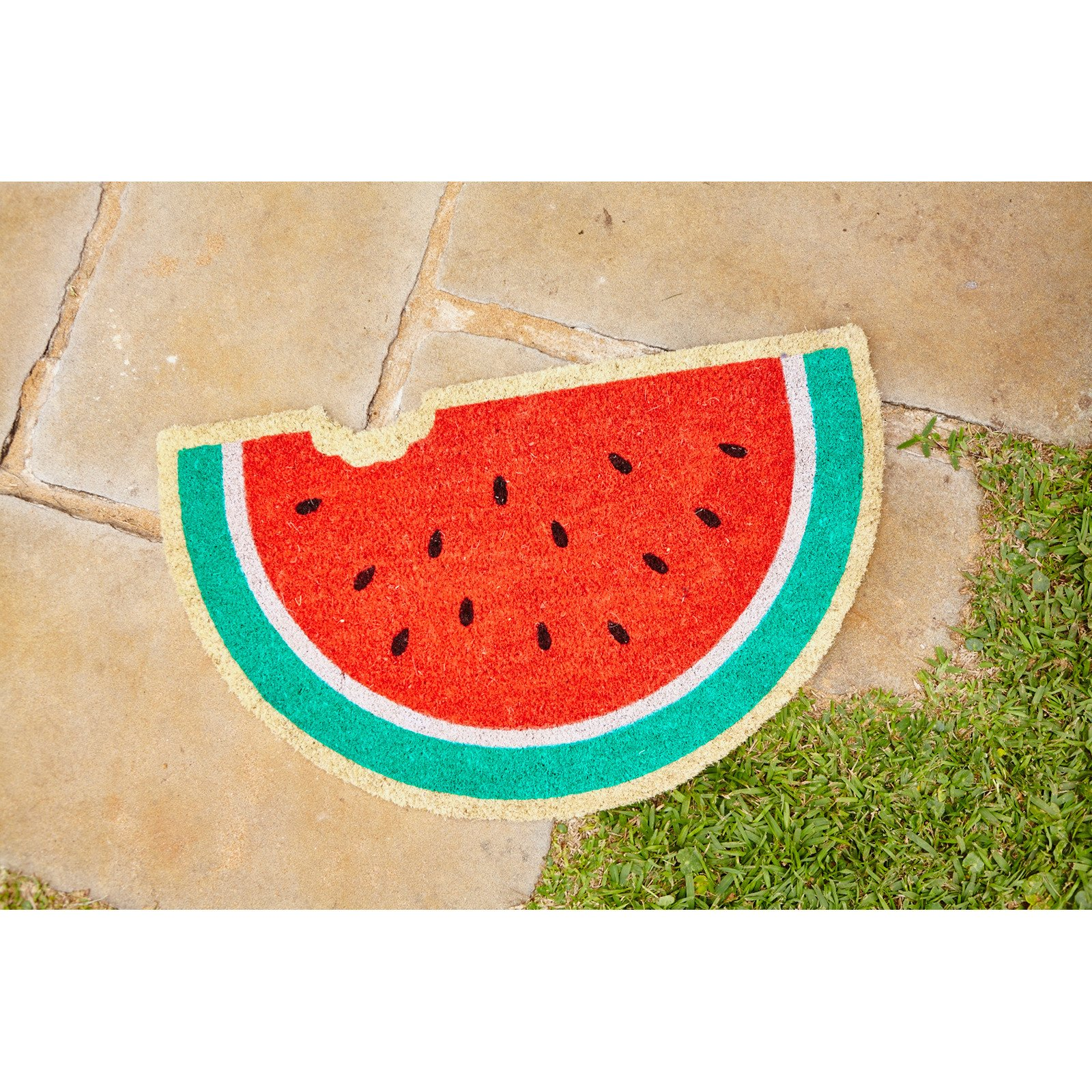 fussmatte wassermelonen scheibe watermelon doormat. Black Bedroom Furniture Sets. Home Design Ideas