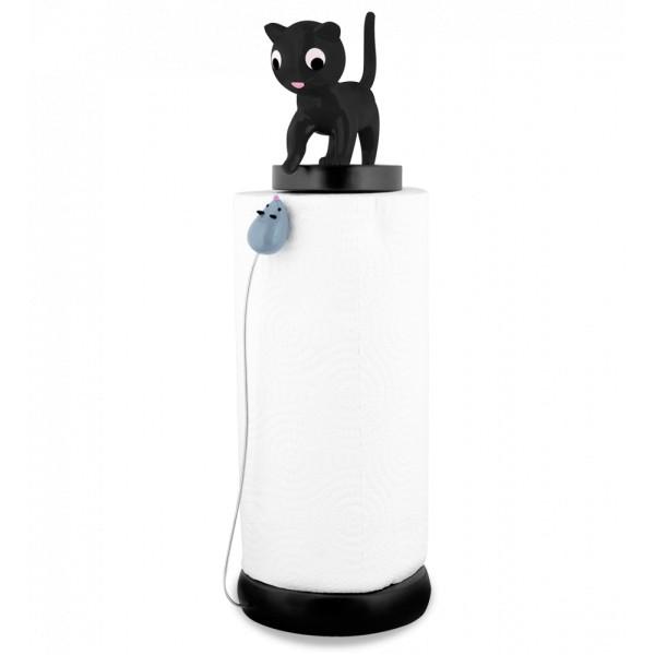 Pylones - Küchenrollenhalter Katze und Maus Charoule - schwarz
