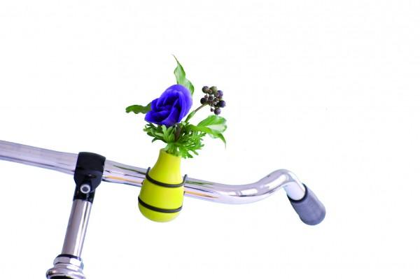Fahrradvase Blumenvase - Holzvase Frieda - grün