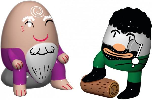 Alessi - Weihnachtsfiguren - Barbaccino & Woody - 2er-Set