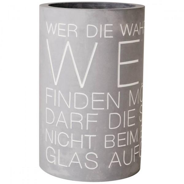 Räder - Weinkühler Flaschenkühler Beton - Wer die Wahrheit im Wein finden möchte ...