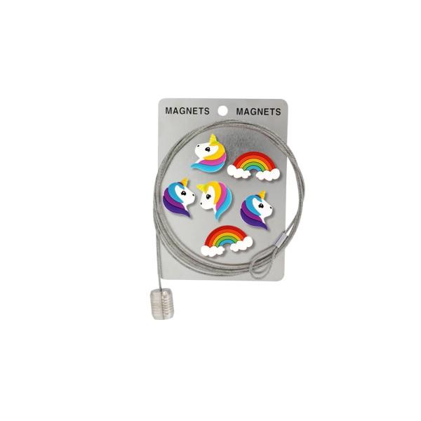 Pylones - Magnetseil Memo-Seil inkl. 6 Einhorn-Magnete - Happy Unicorn