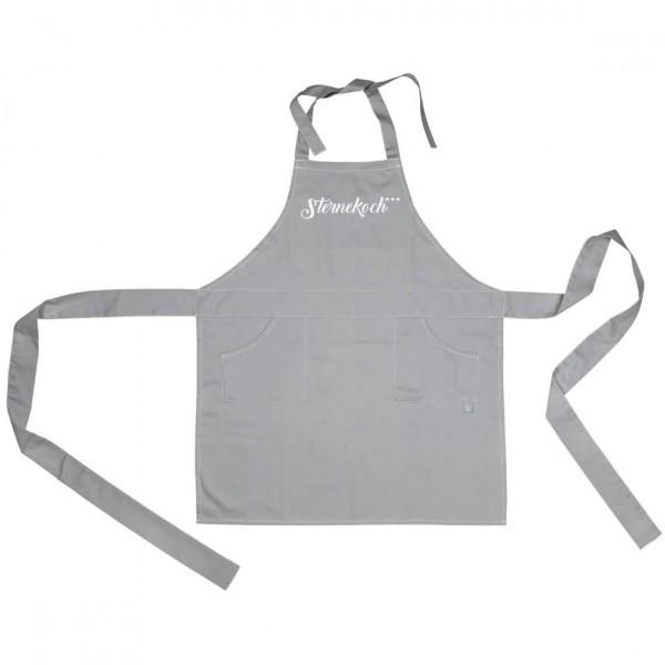 Räder - Dining Schürze Küchenschürze - Sternekoch - grau