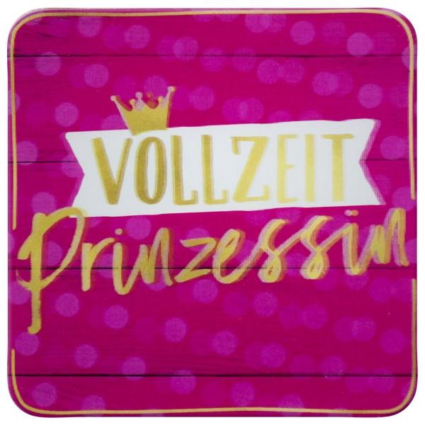 Gruss und Co - 3D-Kork-Untersetzer - Vollzeit-Prinzessin