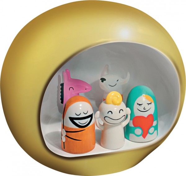 Alessi - Weihnachtskrippe - Presepe - gold - Krippefiguren