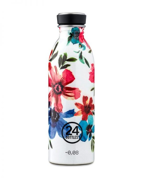 24bottles - Edelstahl-Trinkflasche 500ml - May Blumen bunt