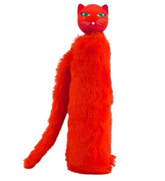 Pylones - Regenschirm Taschenschirm - Katze - Chapka - rot