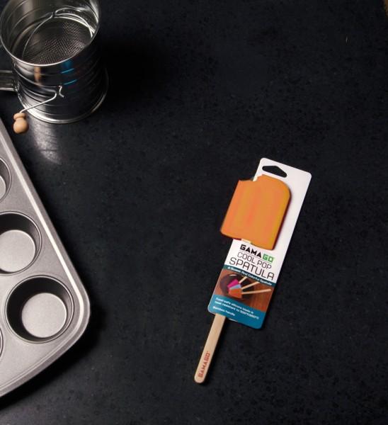 Invotis - GamaGo - Teigschaber Eis am Stiel - orange