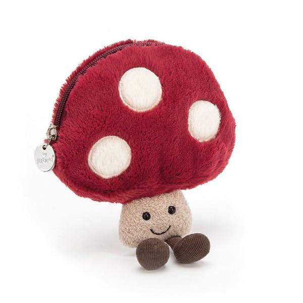 Münzgeldbeutel Mini-Tasche Amuseable Mushroom Pouch - Fliegenpilz