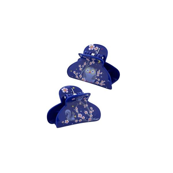 Pylones - Haarspange - Haarklammer - Ladyclip Small - Blue Owl