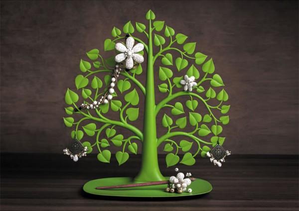 Qualy - Schmuckständer Schmuckbaum - Bodhi - grün