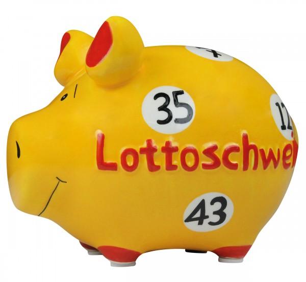 Sparschwein - Spardose Kleinschwein - Lottoschwein