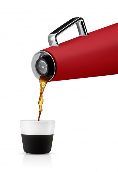 Eva Solo - Kaffeekanne - Isolierkanne mit Wärmeanzeige - rot