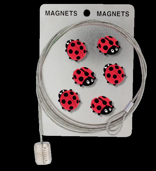 Pylones - Magnetseil Memo-Seil inkl. 6 Marienkäfer-Magnete - Happy Ladybird