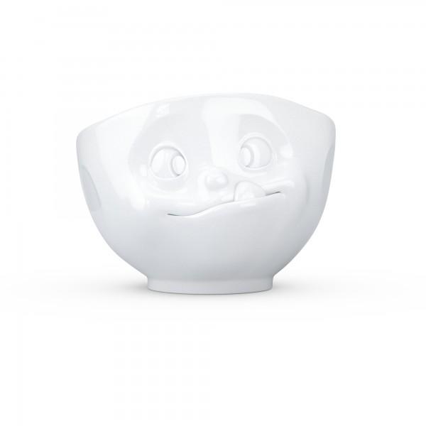 TV Tassen - Schale mit Gesicht 1000ml - lecker - aus Porzellan