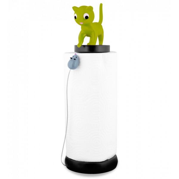 Pylones - Küchenrollenhalter Katze und Maus Charoule - grün