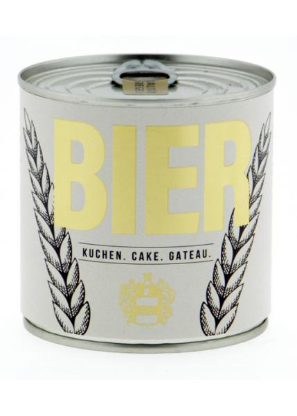 Rührkuchen aus der Dose mit Kerze Cancake - Bier
