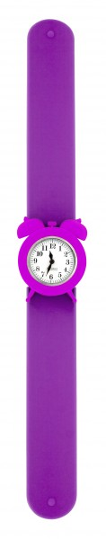 Pylones - Uhr Silikon Reflexarmband - My Time - lila violett