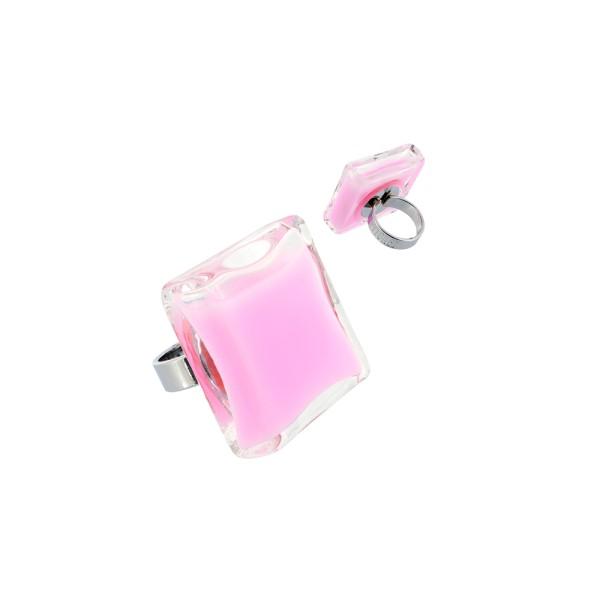 Pylones - Ring - Giga Carre Milk - Flüssigkeit Bubble Gum rosa