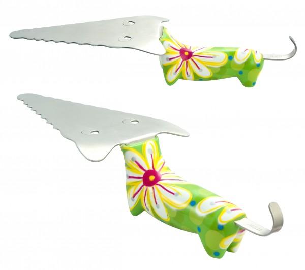 Pylones - Tortenheber - Tortenschaufel - Filou - Fleurs grün