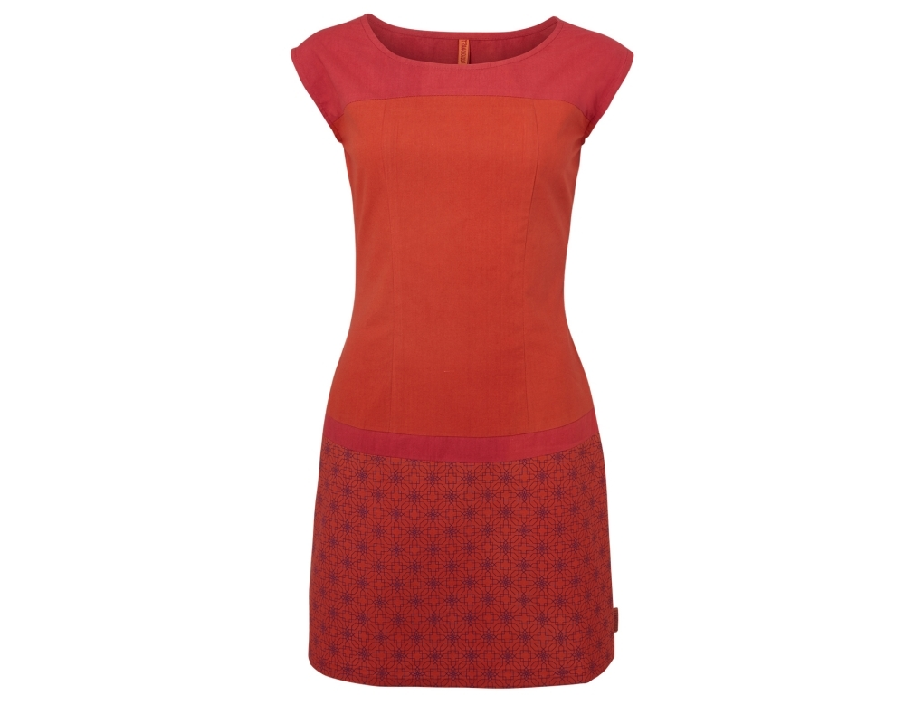 Kleid rot orange