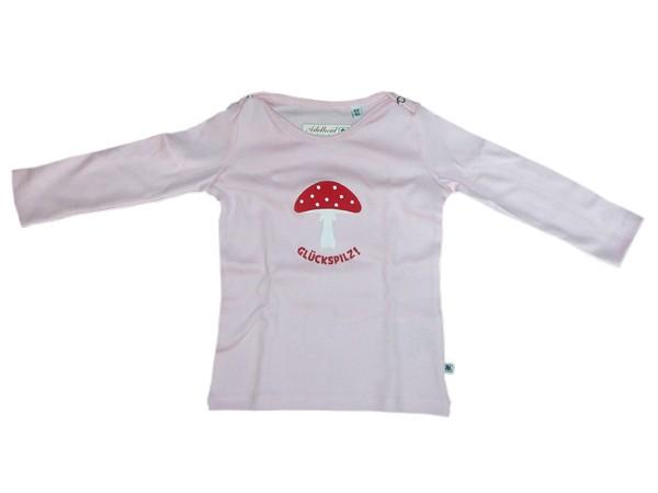 Adelheid - Glückspilz Langarm-Leibchen für Kinder - rosa