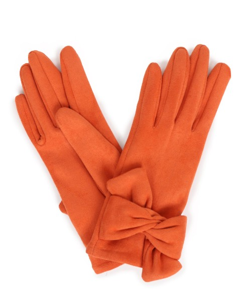 Powder - Wildleder-Handschuhe - Henrietta Faux Suede Gloves - tangerine