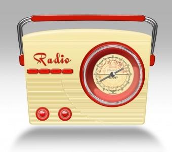 Blechdose - Geschenkbox Keksdose Radio tailliert - beige