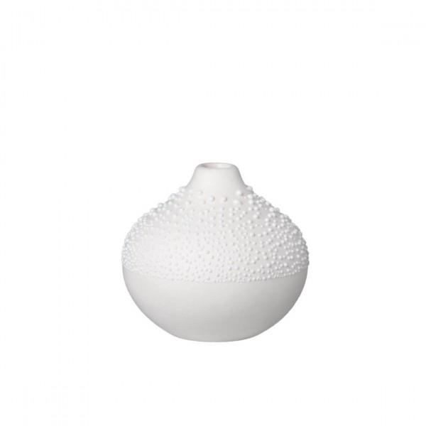 Räder - Blumenvase Perlenvase - klein weiß