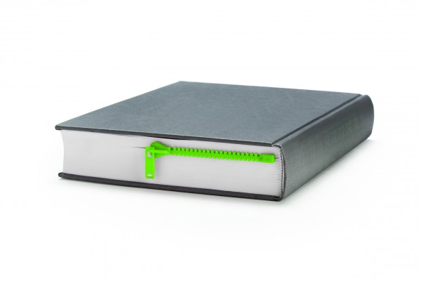 Peleg Design - Lesezeichen Reißverschluss - Zipmark - grün